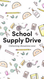 School Supply Drive Pencil  PowerPoint image 6