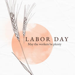 Labor Day Wheat Social Square PowerPoint image