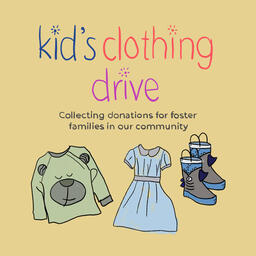 Kid's Clothing Drive Social Square PowerPoint image