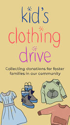 Kid's Clothing Drive IG Story PowerPoint image