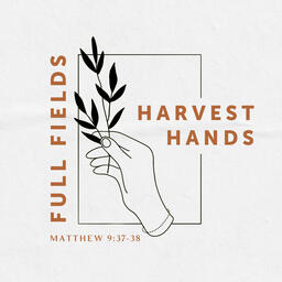 Full Fields Harvest Hands Social Square PowerPoint image