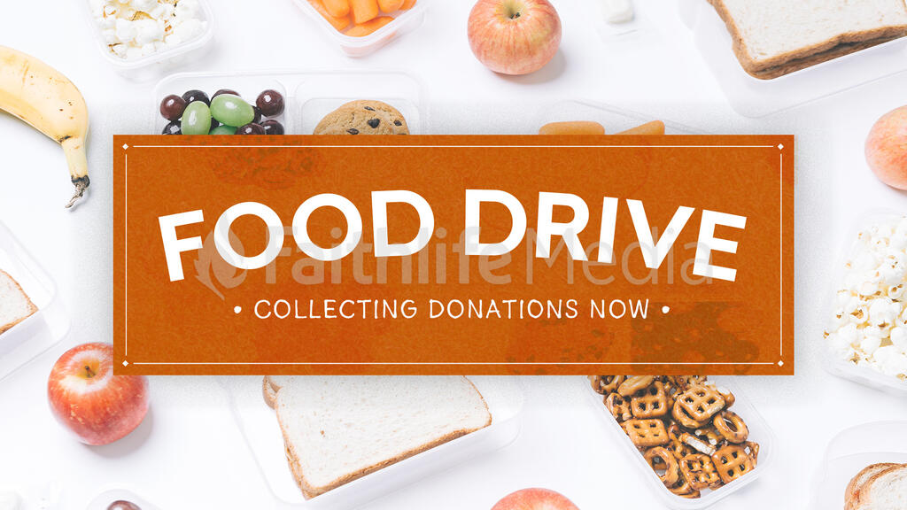 Food Drive Donations large preview