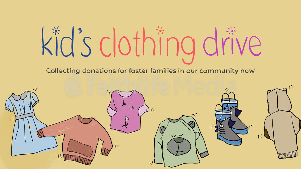 Kid's Clothing Drive large preview