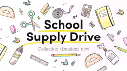 School Supply Drive Pencil  PowerPoint image 1