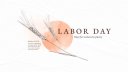 Labor Day Wheat  PowerPoint image 1