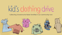 Kid's Clothing Drive  PowerPoint image 1