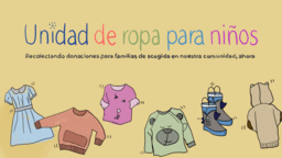 Kid's Clothing Drive  PowerPoint image 2