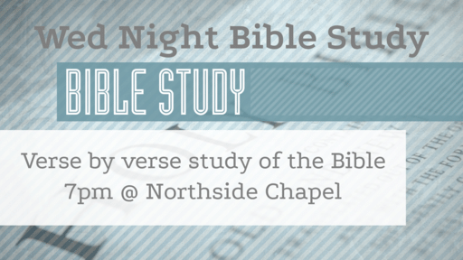 Wednesday Night Bible Study