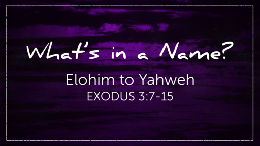 Elohim to Yahweh