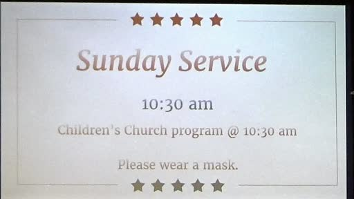July 19, 2020 Sunday Service Mount Union Church of the Brethren