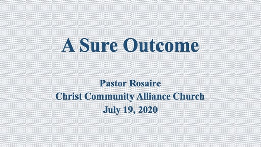 July 19 2020 CCAC Sunday Service 830 am