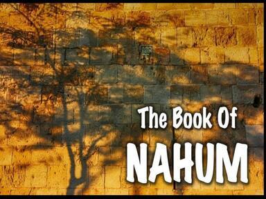 Nahum - comfort through justice