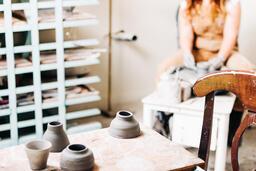 A Woman Making Pottery  image 6