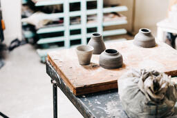 A Woman Making Pottery  image 5