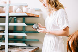 Woman in a Pottery Studio  image 1