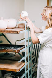 Woman in a Pottery Studio  image 6