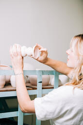 Woman in a Pottery Studio  image 8