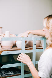 Woman in a Pottery Studio  image 10