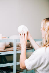 Woman in a Pottery Studio  image 3
