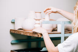 Woman in a Pottery Studio  image 4