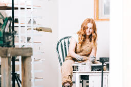 A Woman Making Pottery  image 8