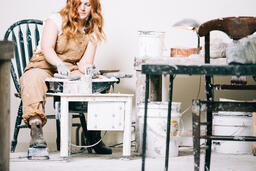 A Woman Making Pottery  image 7