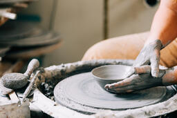 Pottery Being Made on a Pottery Wheel  image 2
