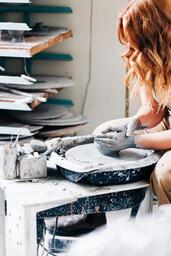 A Woman Making Pottery  image 3
