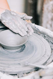 Pottery Being Made on a Pottery Wheel  image 7