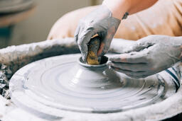Pottery Being Made on a Pottery Wheel  image 3