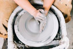 A Woman Making Pottery  image 1