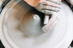 Pottery Being Made on a Pottery Wheel  image 1