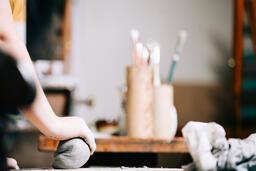 A Woman Making Pottery  image 4