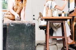 Woman Making Art in a Studio  image 2