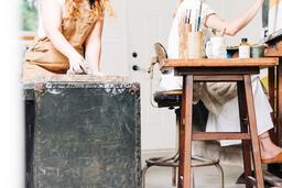 Woman Making Art in a Studio  image 3