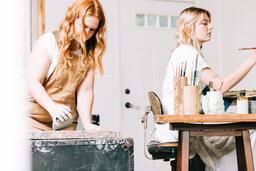 Woman Making Art in a Studio  image 1