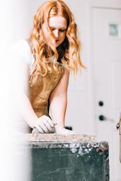 A Woman Making Pottery  image 2