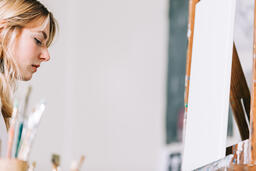 A Woman Painting  image 1