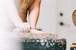 A Woman Making Pottery  image 10