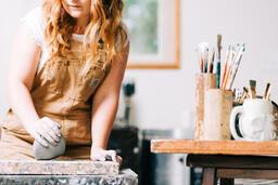 A Woman Making Pottery  image 9