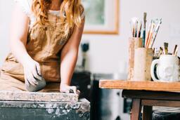 A Woman Making Pottery  image 11