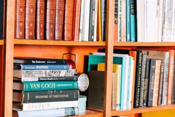 A Book Shelf Full of Books  image 2