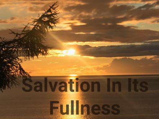 SALVATION IN ITS FULLNESS!  Steve Sorensen  07/26/20