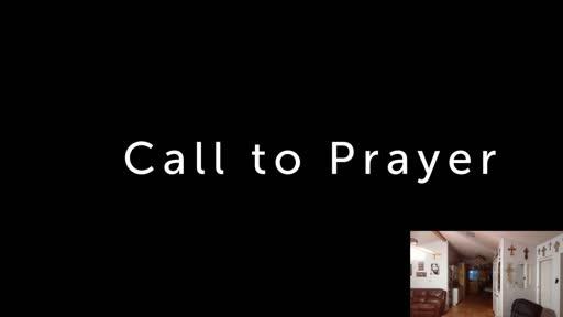Saturday July 25  '20 Evening Psalms Prayer time