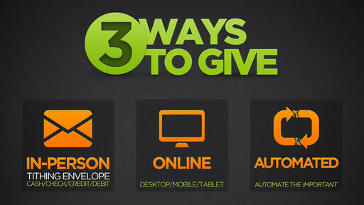 3 Ways To Give (No Church Name)