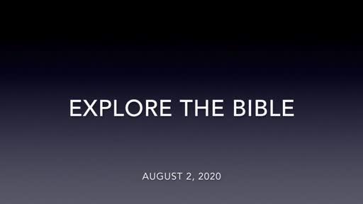 Explore the Bible Aug 2, 2020