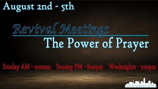 Revival - The Power of Prayer
