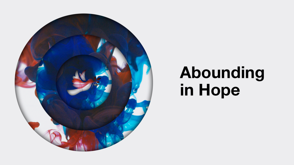 Abounding In Hope Dove large preview
