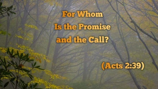 For Whom Is the Promise and the Call? (Acts 2:39)