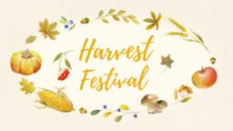 Harvest Festival Yellow  PowerPoint image 1